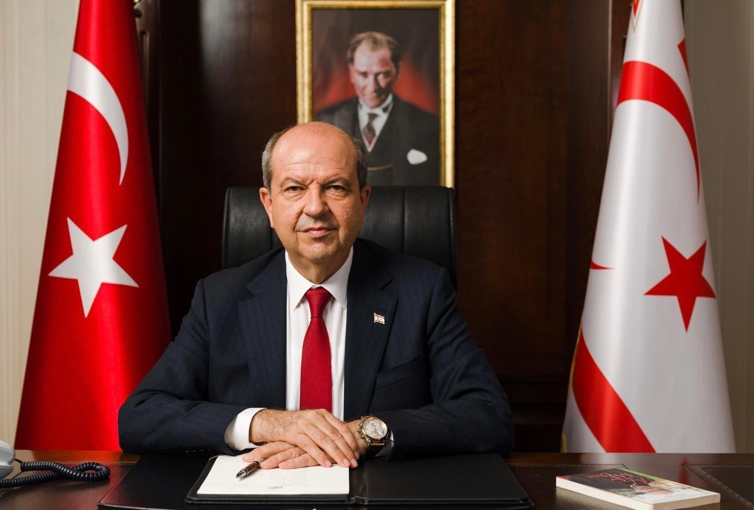 TRNC President Ersin Tatar, Lefkoşa (Nicosia), TRNC, May 14, 2021. (IHA Photo)