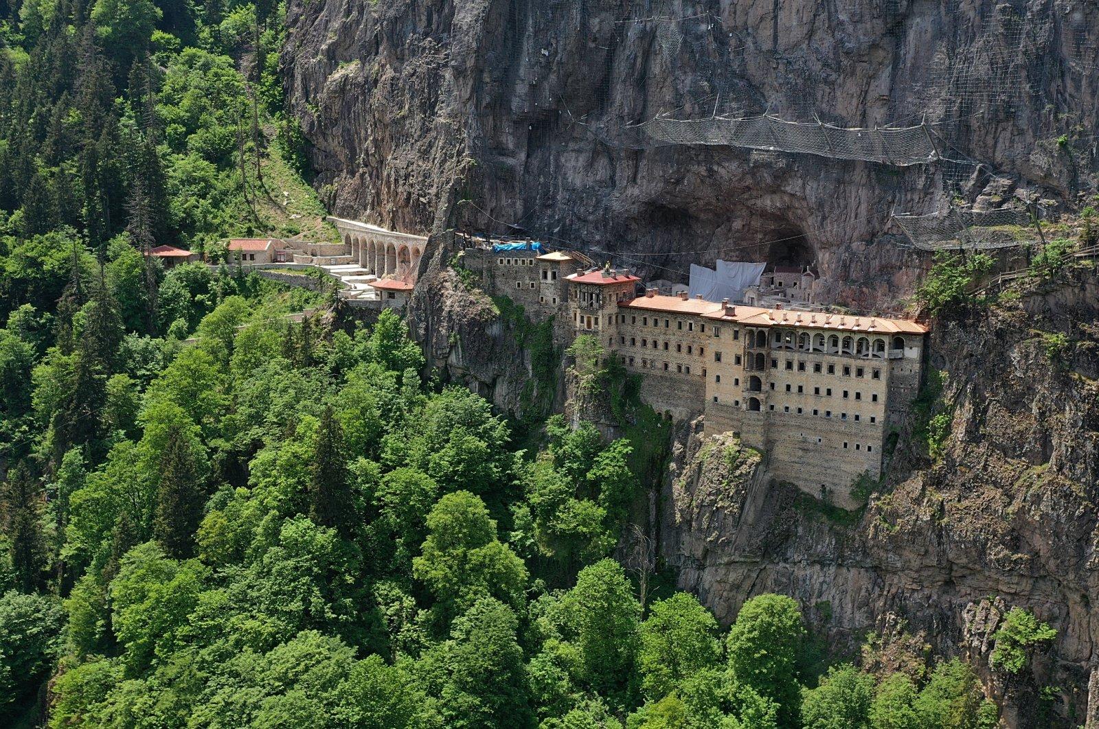 Sun shines upon the Sümela Monastery in Trabzon, Turkey, May 30, 2021. (AA Photo)