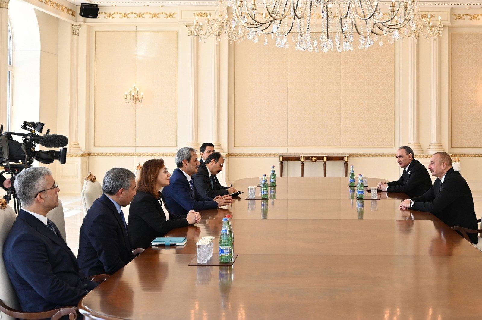 Bekir Şahin, Turkish chief public prosecutor of the supreme court of appeals, was received by Azerbaijan's President Ilham Aliyev in Baku, Azerbaijan, May 30, 2021 (IHA Photo)
