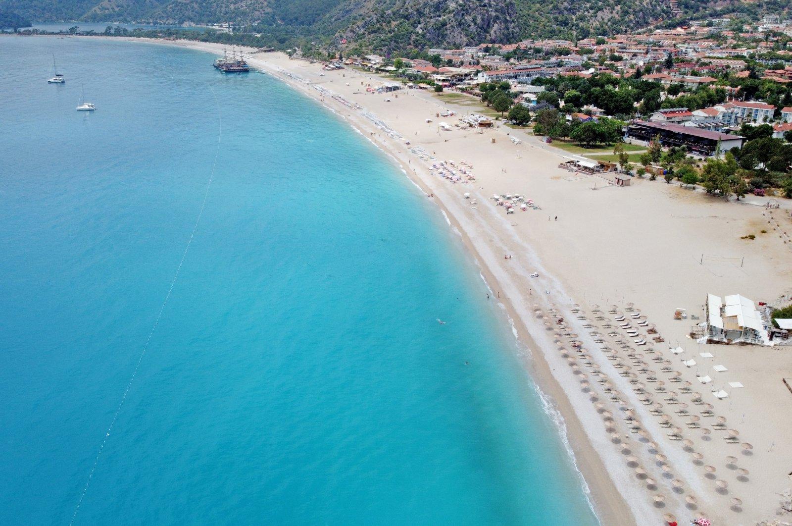 A view of a beachin Fethiye, Muğla province, southwestern Turkey, May 30, 2021. (AA Photo)