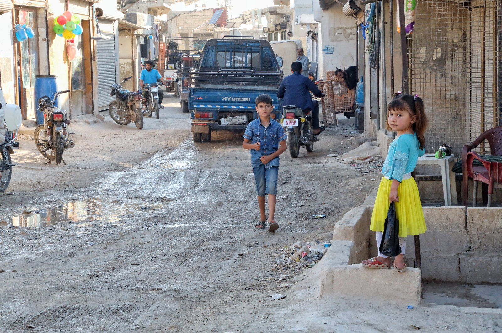 Daily life of displaced Syrians in Karama camps in the northern countryside of Idlib governorate on the Syrian-Turkish border on May 30, 2021. (Photo by Getty Images)