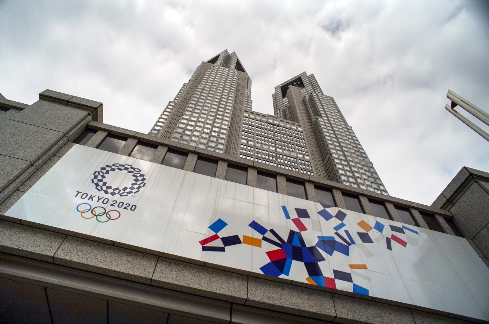 A board of Tokyo 2020 Olympics Games on the wall of the Tokyo Metropolitan Government building, Tokyo, Japan, May 31, 2021. (AFP Photo)