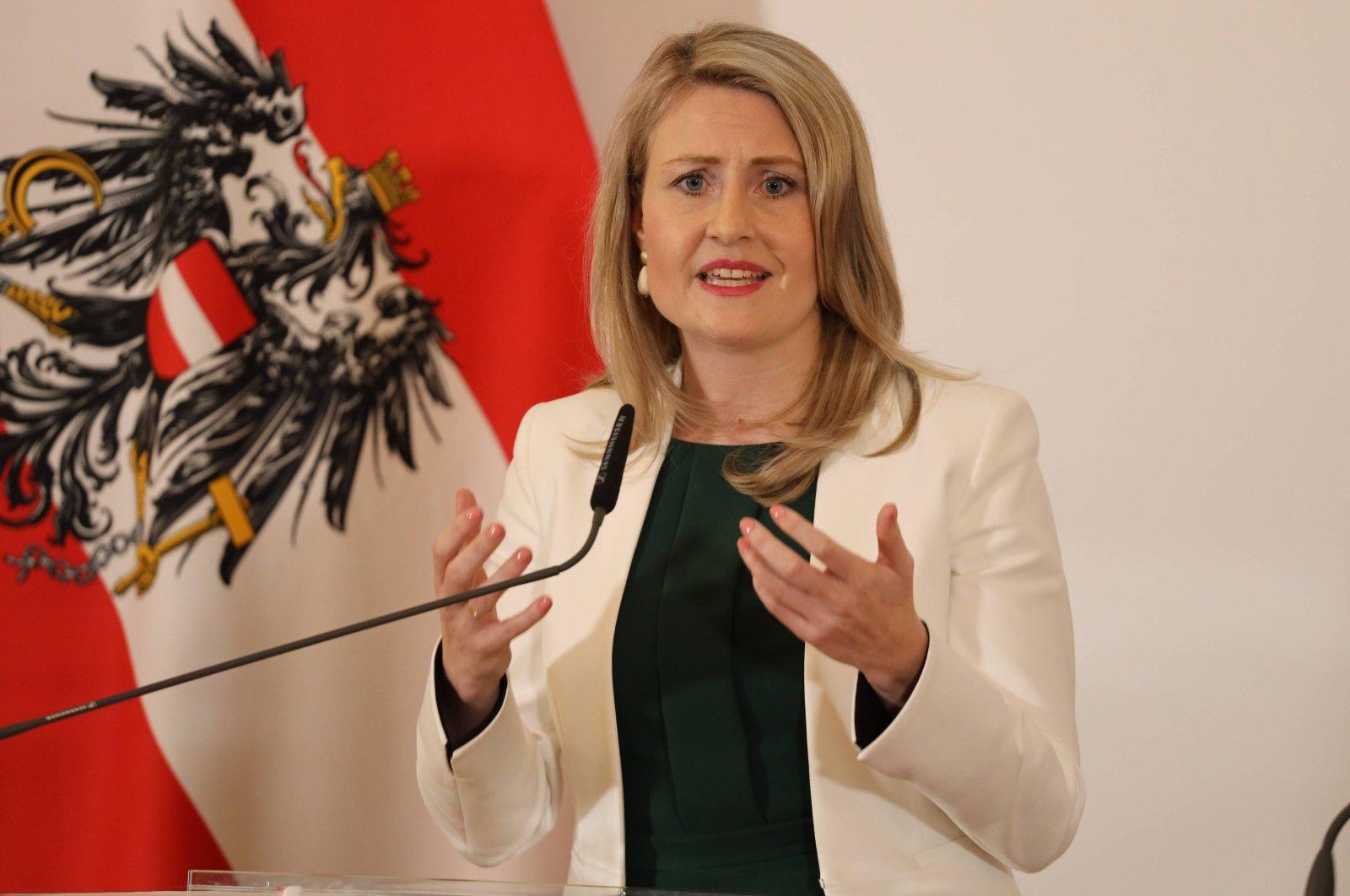 Austrian Integration Minister Susanne Raab in Vienna, Austria, March 4, 2020. (Reuters Photo)