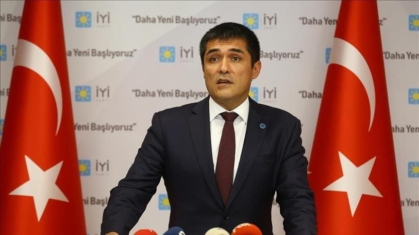 The opposition Good Party's (IP) Istanbul head Buğra Kavuncu, Oct. 21, 2020. (Sabah Photo)