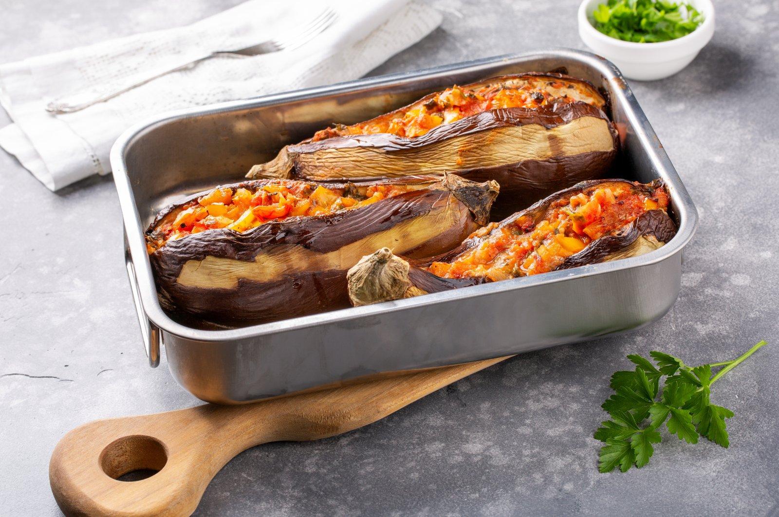 Imam Bayıldı is one of the most popular dishes inTurkish cuisine. (Shutterstock Photo)