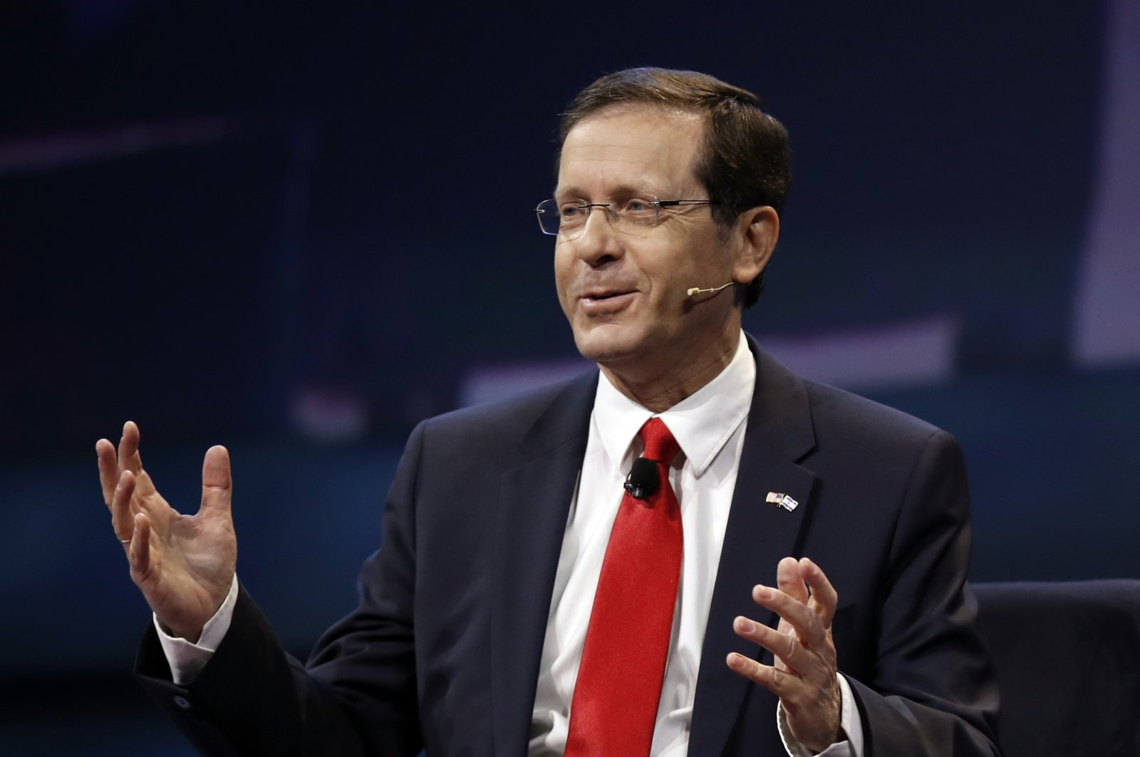 Isaac Herzog speaks at the AIPAC Policy Conference in Washington, D.C., U.S., March 27, 2017. (AP File Photo)