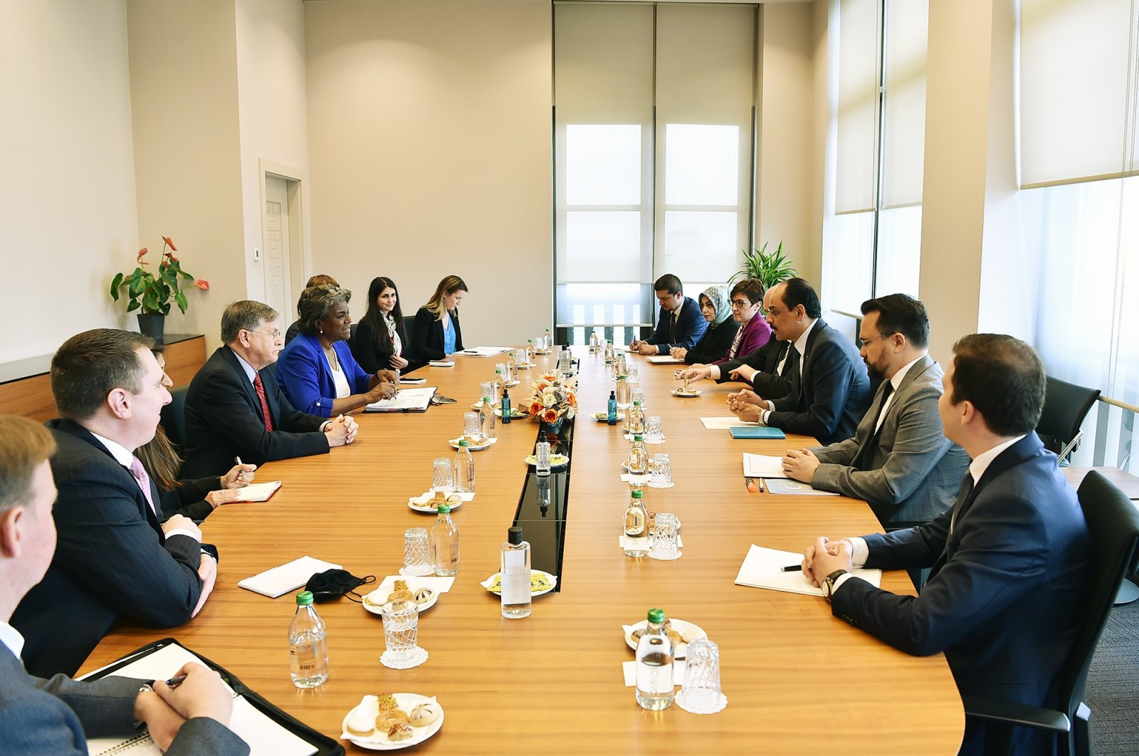 Turkish and the U.S. delegations hold a meeting in the capital Ankara, Turkey, June 2, 2021. (AA Photo)
