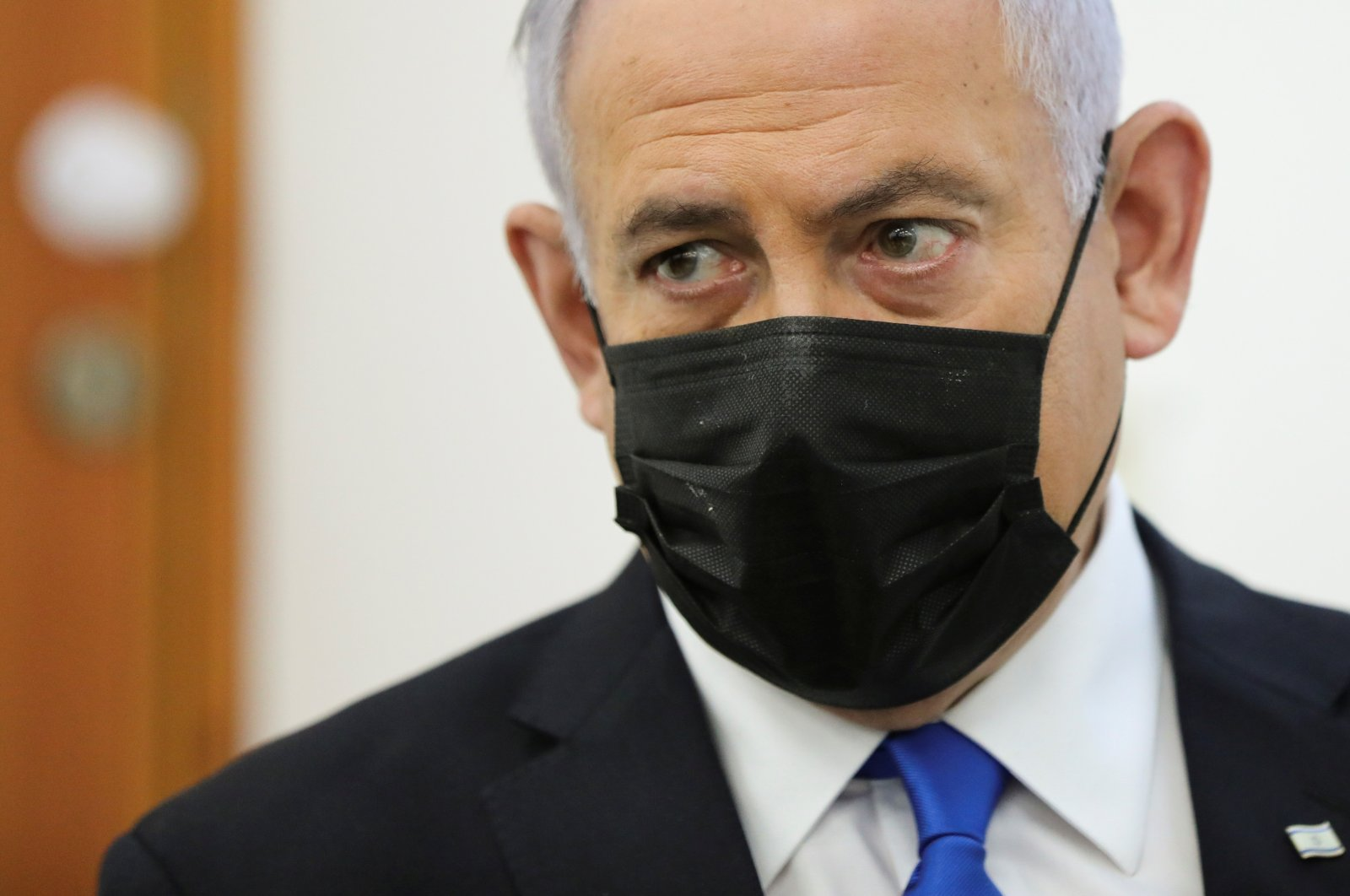 Israeli Prime Minister Benjamin Netanyahu is seen in this file photo dated April 5, 2021 (Reuters Photo)