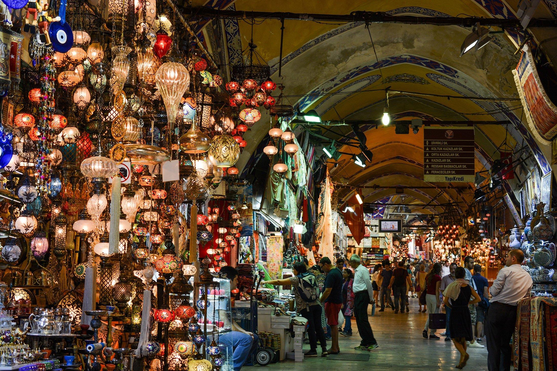 General view of Grand Bazaar in Turkey's Istanbul. (Shutterstock Photo)