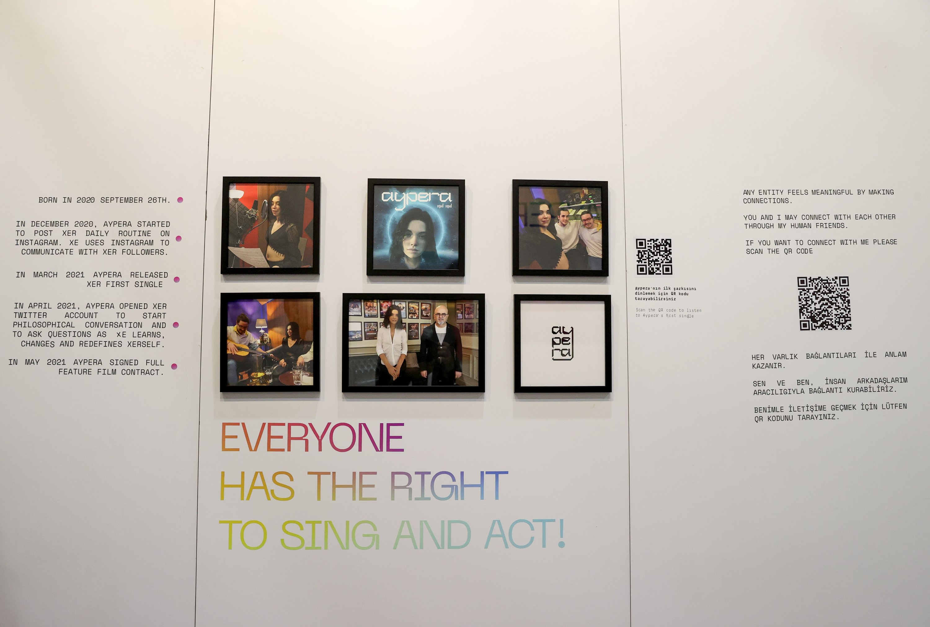 A view from the Aypera poster exhibition at Contemporary Istanbul, Istanbul, Turkey, June 2, 2021. (AA Photo)