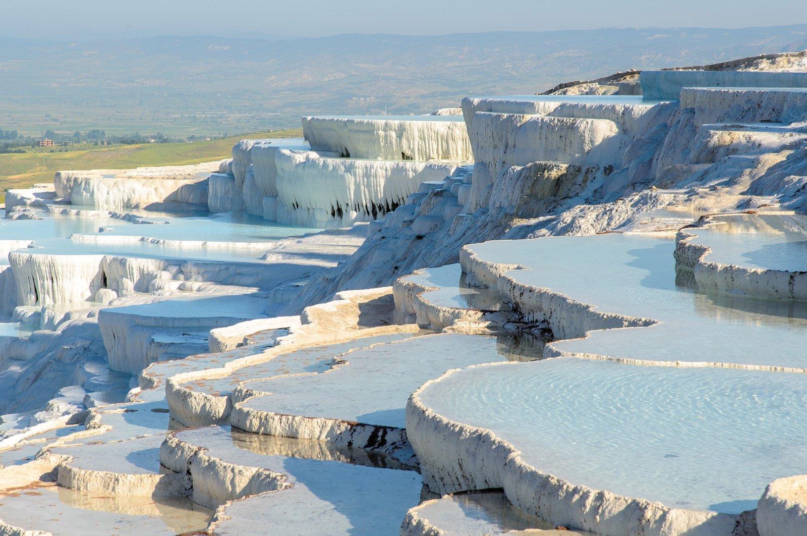 The view of thermal baths in Denizli's Pamukkale in Turkey. (Shutterstock Photo)