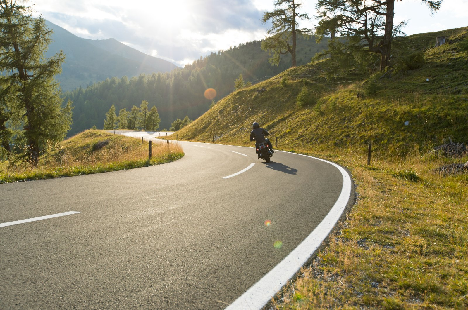 Motorcycles are a great way to travel flexibly, but once you start piling on the baggage, things can get tricky. (Shutterstock Photo)