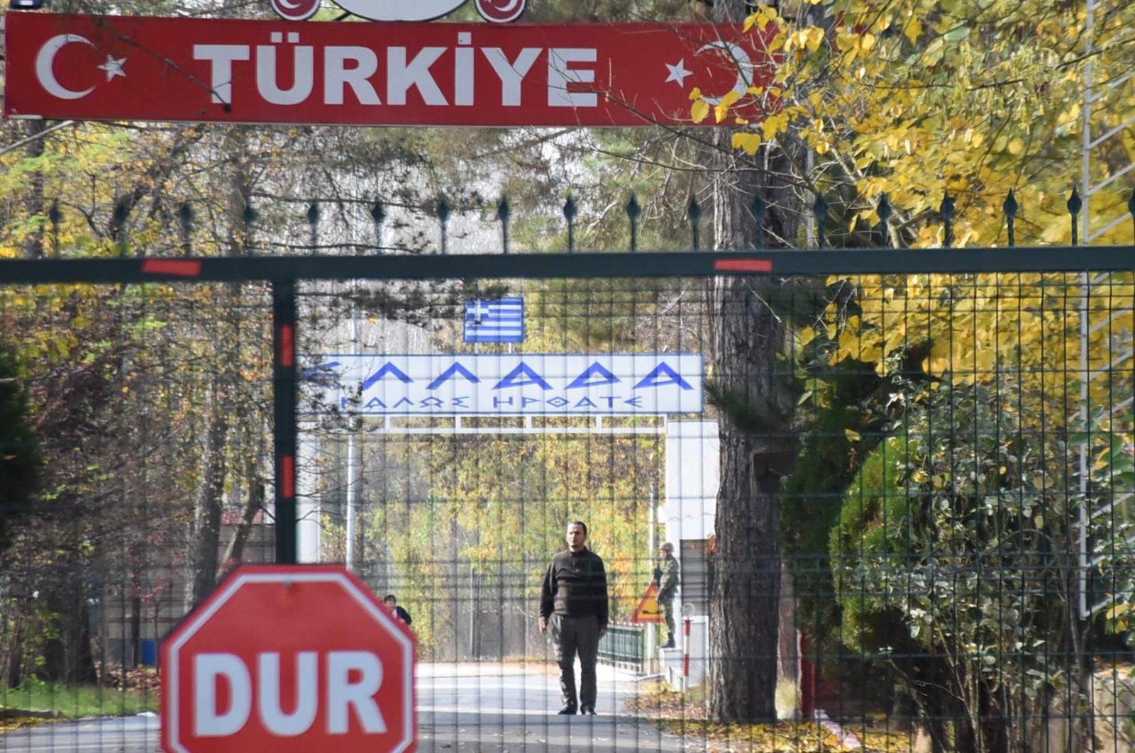 No man's land at the border between Turkey and Greece near Pazarkule is seen from Edirne, Turkey, Nov. 11, 2019. (DHA File Photo)