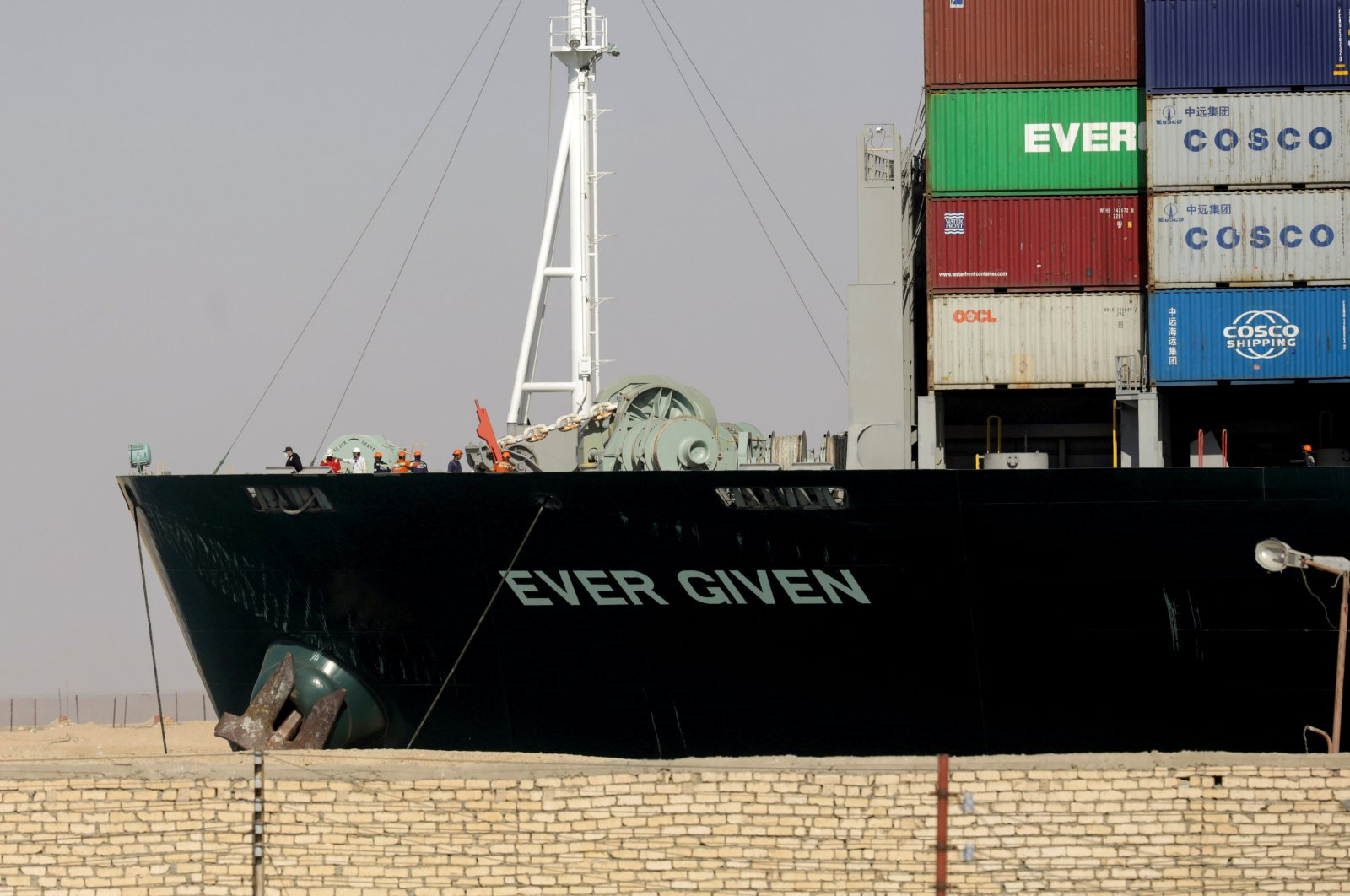 Ever Given, one of the world's largest container ships, is seen after it was fully floated in the Suez Canal, Egypt, March 29, 2021. (REUTERS / Mohamed Abd El Ghany)