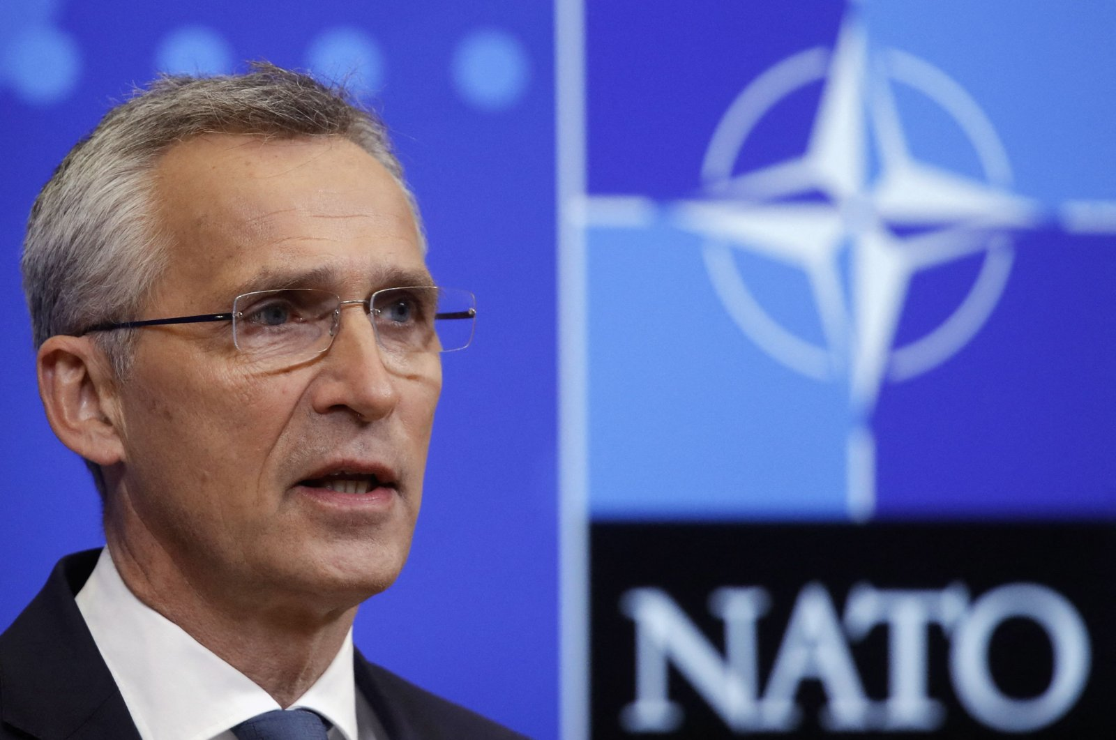 NATO Secretary General Jens Stoltenberg gives a press conference ahead of an online NATO Foreign and Defense Ministers' meeting at the Alliance's headquarters in Brussels, Belgium, May 31, 2021. (AFP Photo)