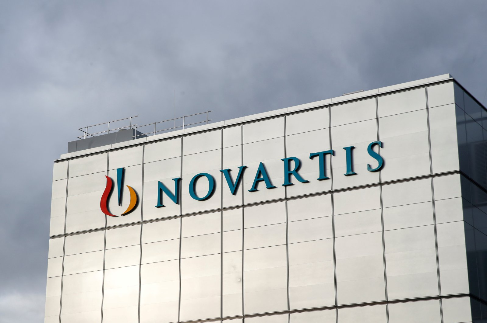 The Novartis logo is seen at the new cell and gene therapy factory of Swiss drugmaker in Stein, Switzerland, Nov. 28, 2019. (REUTERS Photo)