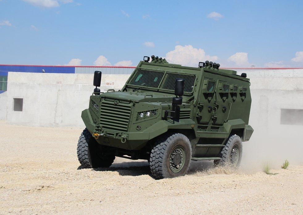Katmerciler's tactical wheeled armored 4x4 vehicle Hızır. (Courtesy of Katmerciler)