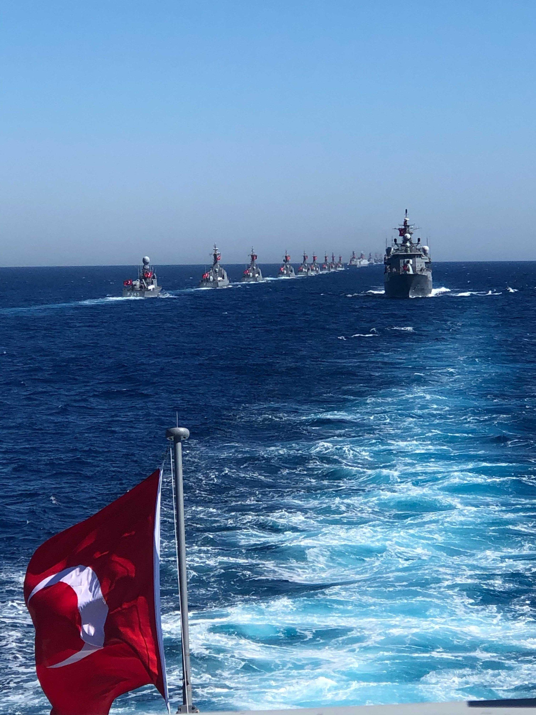The Sea Wolf (Denizkurdu) military drill off was held in western Muğla province's Marmaris, Turkey, June 4, 2021. (Photo by Nur Özkan Erbay)