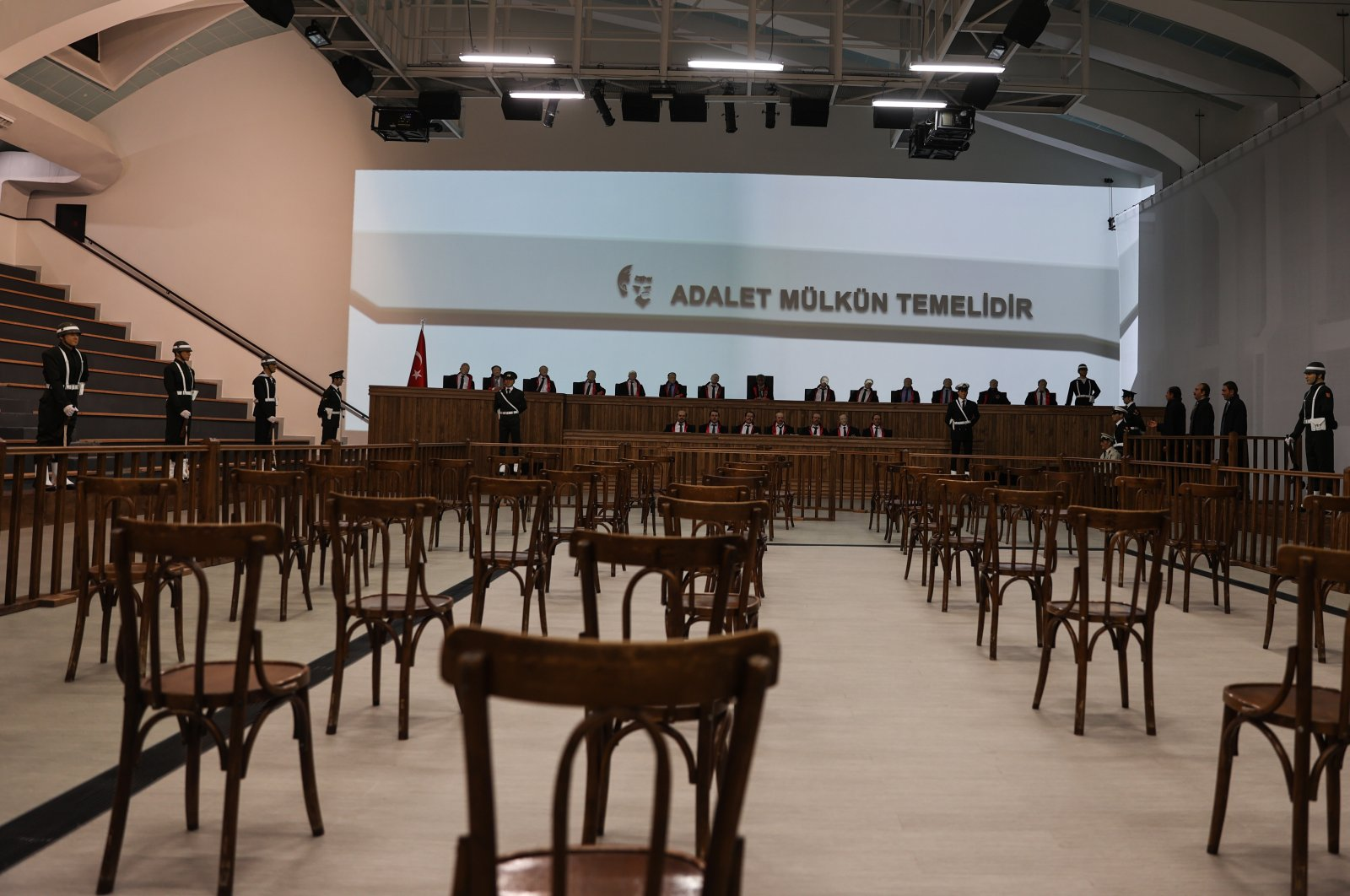 """A room at Yassıada, whose name was changed to """"Democracy and Freedom Island,"""" symbolizes one of the darkest eras in the history of the republic because of its notorious jails and trials from the 1960 military coup, Turkey, May 25, 2021. (AA Photo)"""
