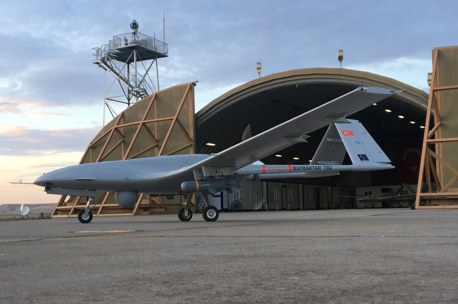 A view of a Bayraktar TB2 combat drone. (Baykar Makina via AA)