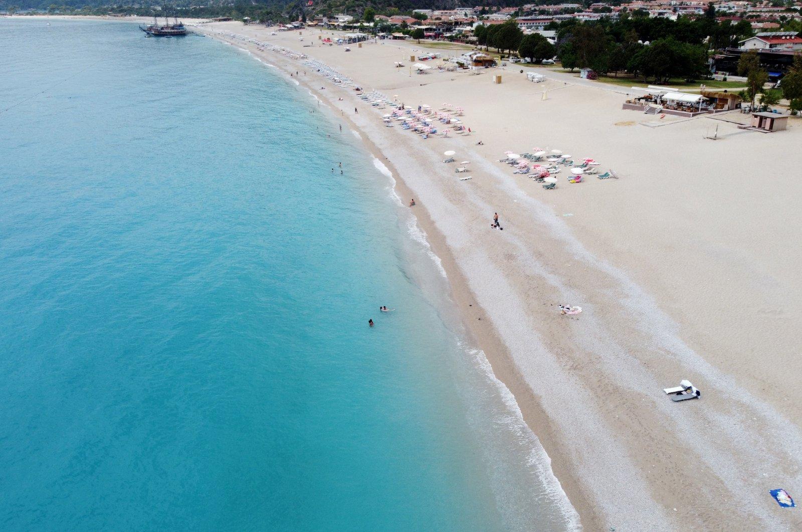 A view of a beach in Fethiye, Muğla province, southwestern Turkey, May 30, 2021. (AA Photo)