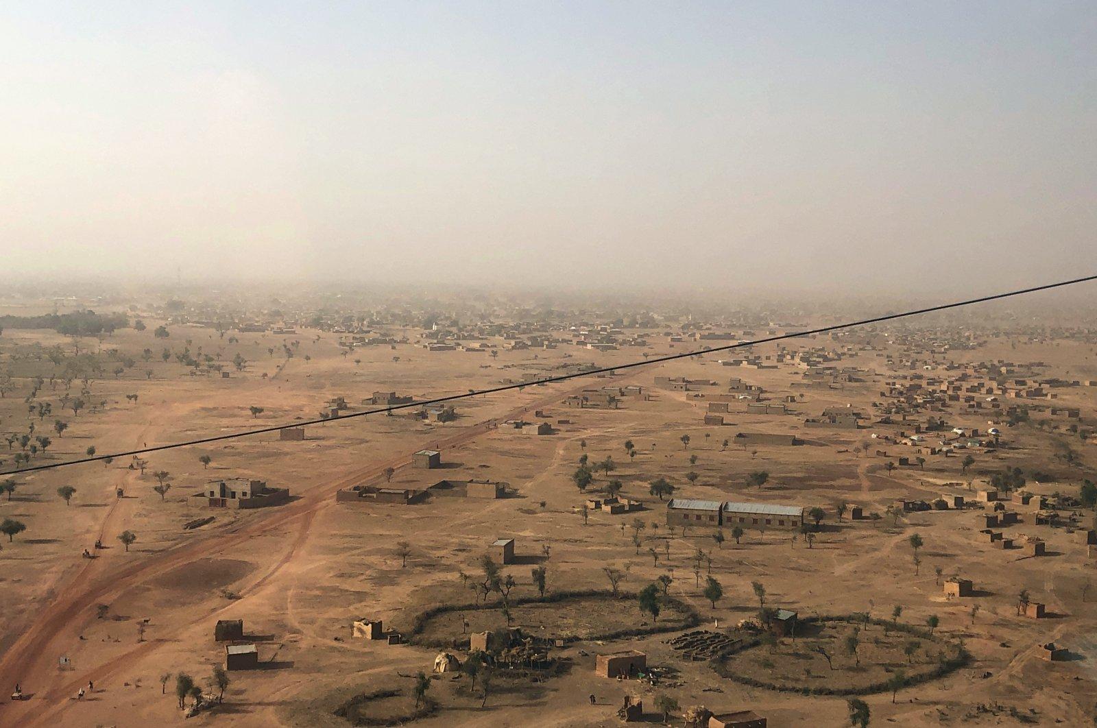 Aerial view of Djibo town, the epicenter of Burkina Faso's conflict, Burkina Faso, Feb. 18, 2021. (AP Photo)