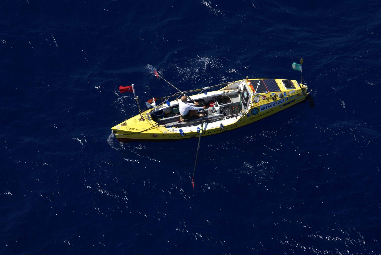 Eruç during his solocircumnavigation of the globe. (Erden Eruç/AA Photo)