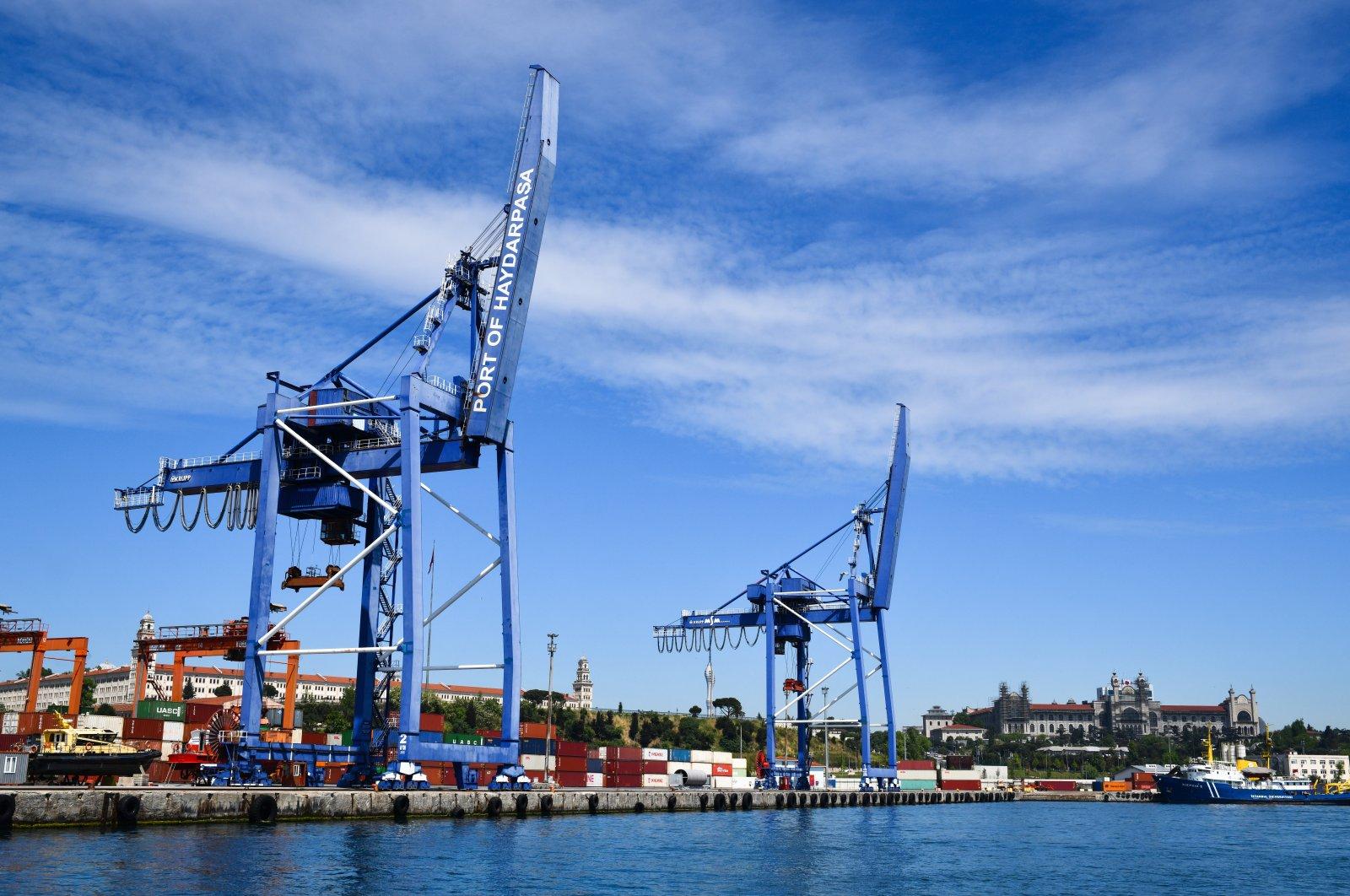 Port equipment waits for shipments at the Haydarpaşa Port in Kadıköy, Istanbul, Turkey, May 5, 2021. (Photo by Shutterstock)