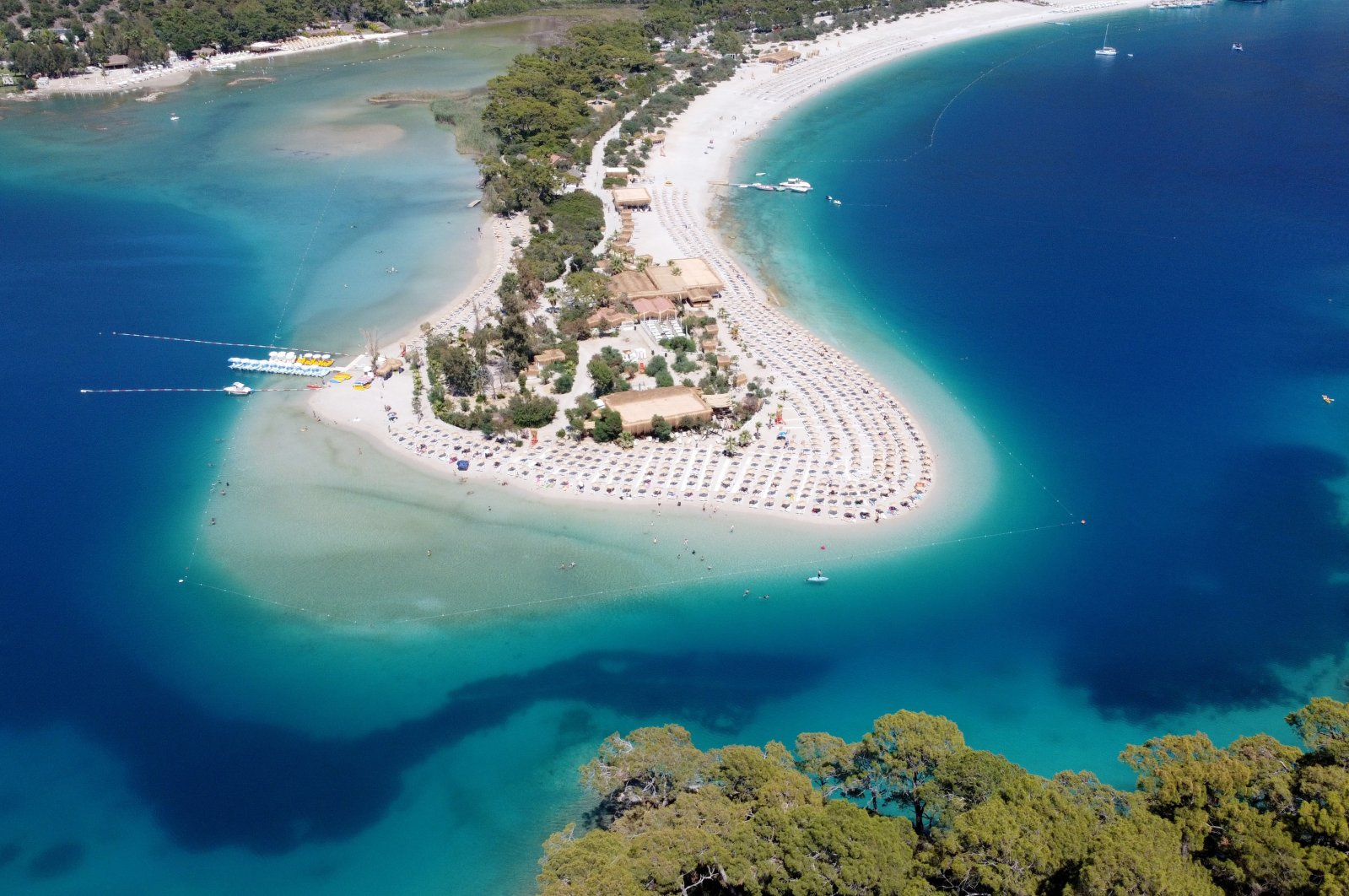 A view of a beach in Fethiye, Muğla province, southwestern Turkey, June 6, 2021. (AA Photo)