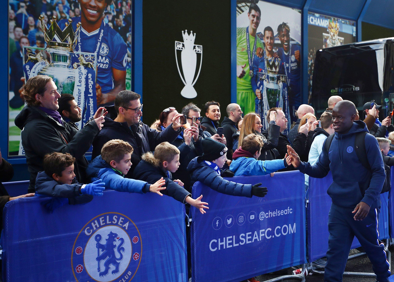 Chelsea's N'Golo Kante arrives at Stamford Bridge, London, Britain, Nov. 9, 2019. (Reuters Photo)