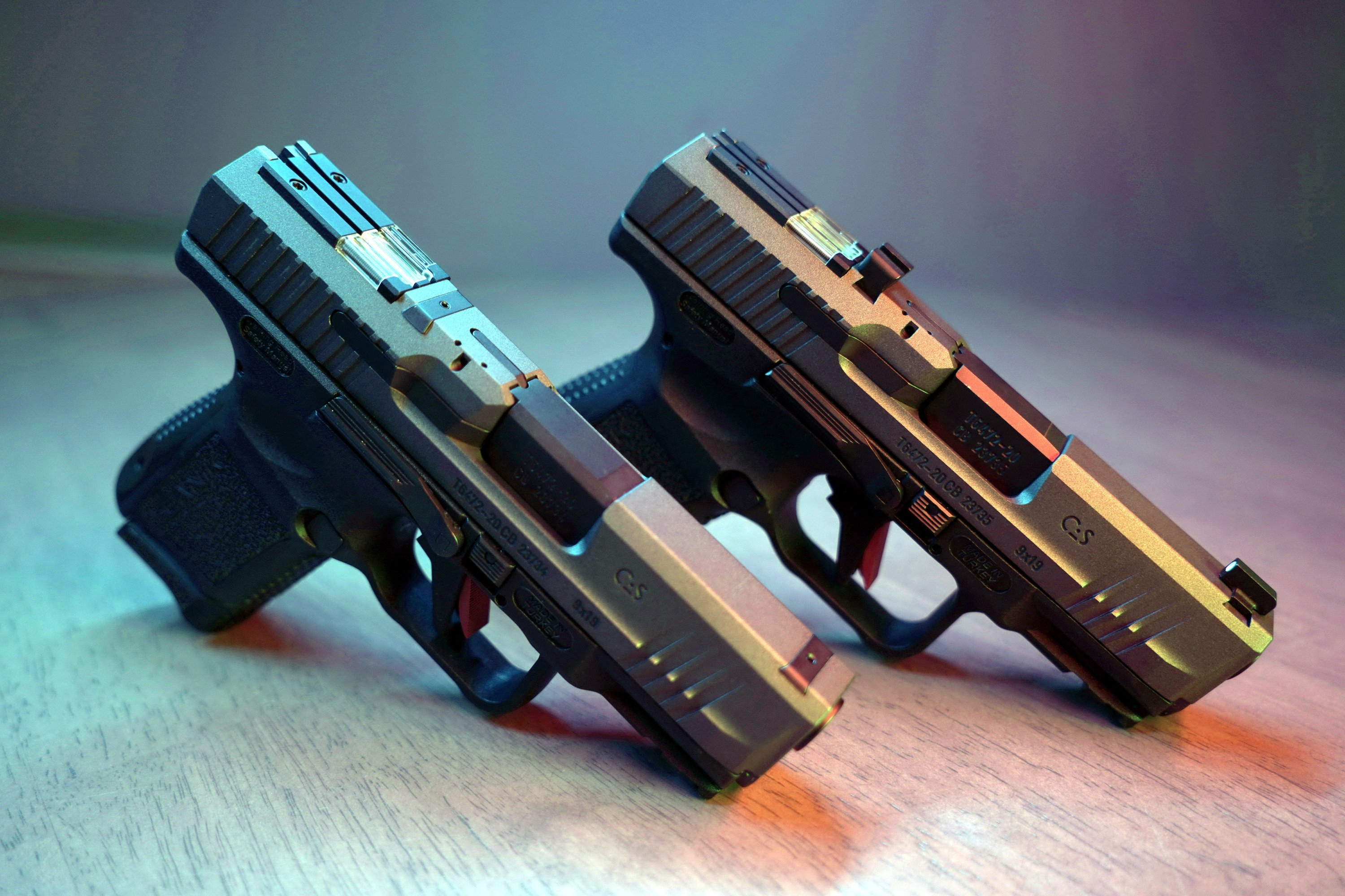 Pistols produced by SYS, June 7, 2021. (IHA Photo)