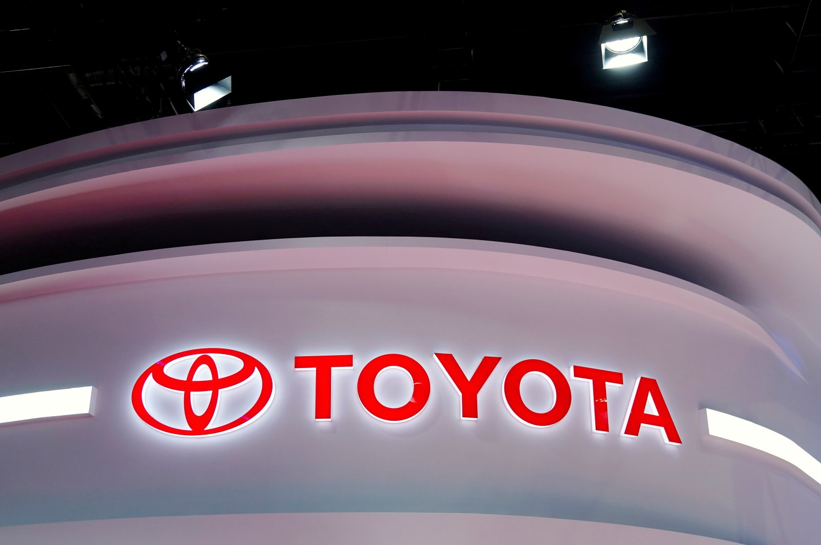 The Toyota logo is seen at a booth during a media day for the Auto Shanghai show in Shanghai, China, April 19, 2021. (reuters Photo)