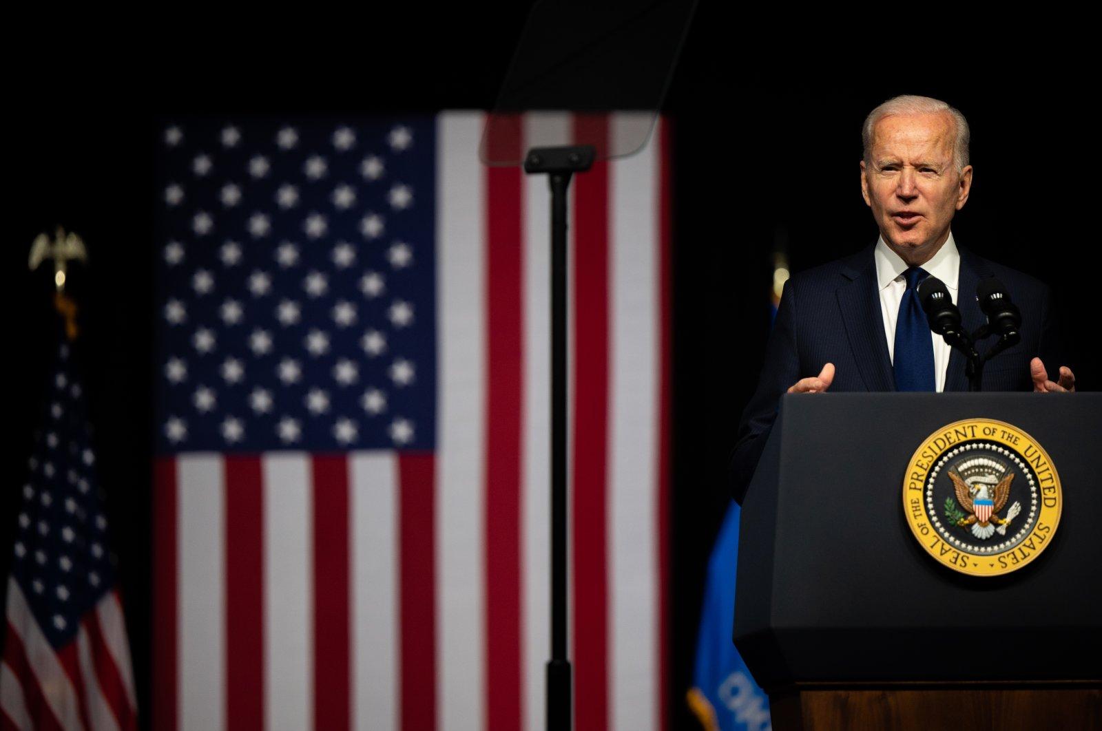 U.S. President Joe Biden speaks at a rally, Tulsa, Oklahoma, U.S., June 1, 2021. (Photo by Getty Images)