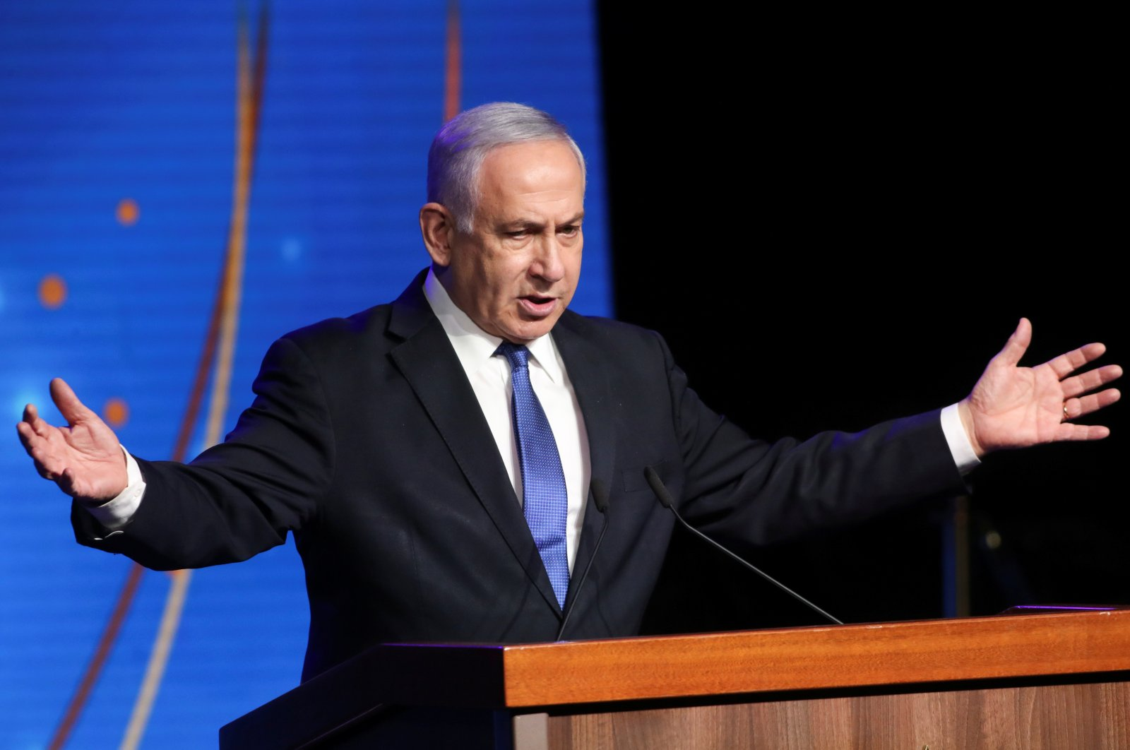 Israeli Prime Minister Benjamin Netanyahu speaks during a ceremony to show appreciation to the health sector for their contribution to the fight against the coronavirus disease in Jerusalem, Israel, June 6, 2021. (Reuters Photo)