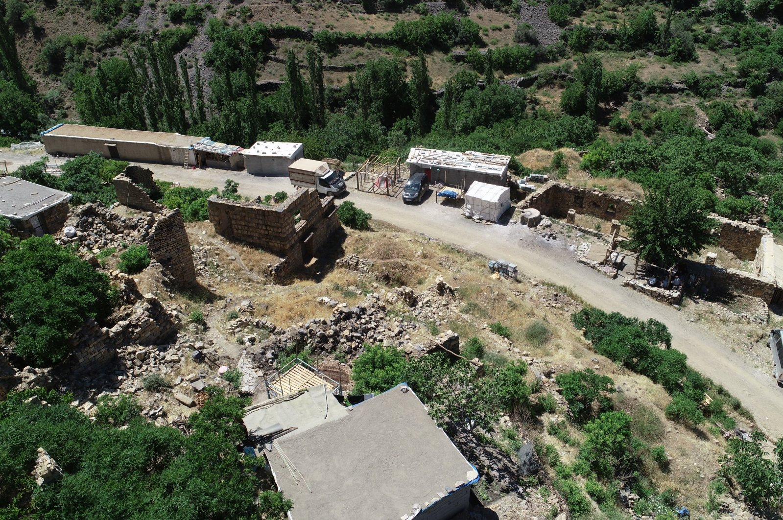A view from the Akduman village in the Uludere district, Şırnak province, southeastern Turkey, June 7, 2021. (İHA Photo)