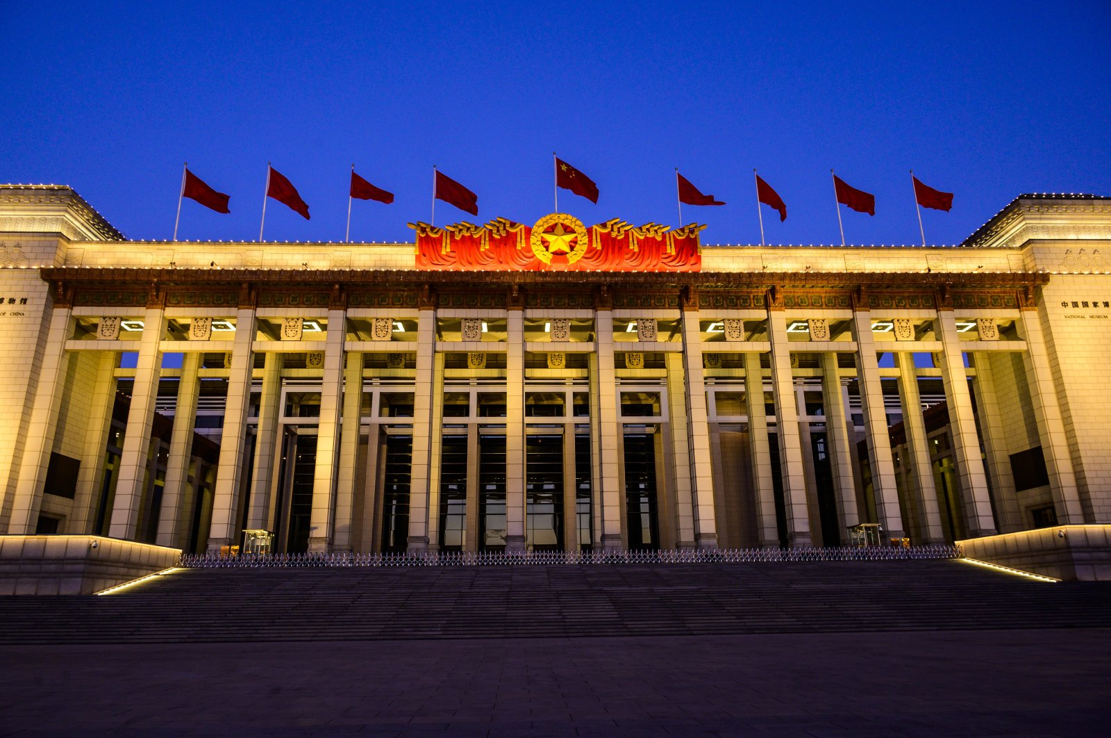 A general view of the National Museum of China at Tiananmen Square on the last day of the Spring Festival holiday, Beijing, China. (Photo by Getty Images)