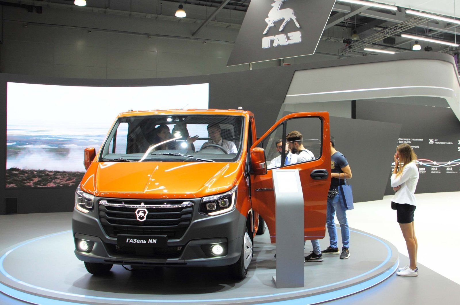A GAZelle NN truck is on display in the Crocus Expo, Moscow, Russia, March 9, 2019. (Shutterstock Photo)