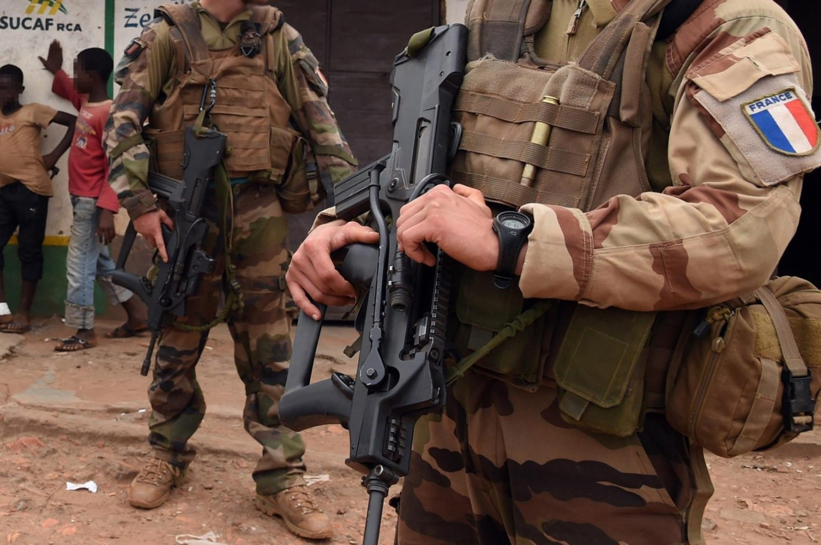 French soldiers on patrol in Bangui, Central African Republic. (AFP Photo)