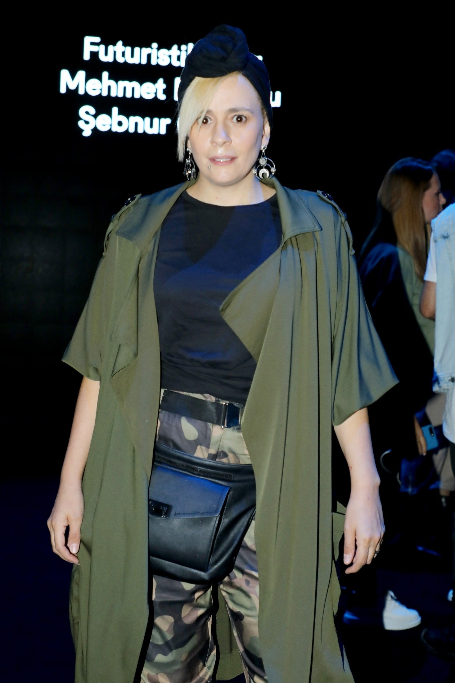 Turkish musician Ayben, sister of rapper Ceza, poses for a photo at the Pioneers Designeer Show during the Mercedes-Benz Istanbul Fashion Week at Zorlu Performance Hall in Istanbul, Turkey, Oct. 9, 2019. (Getty Images)