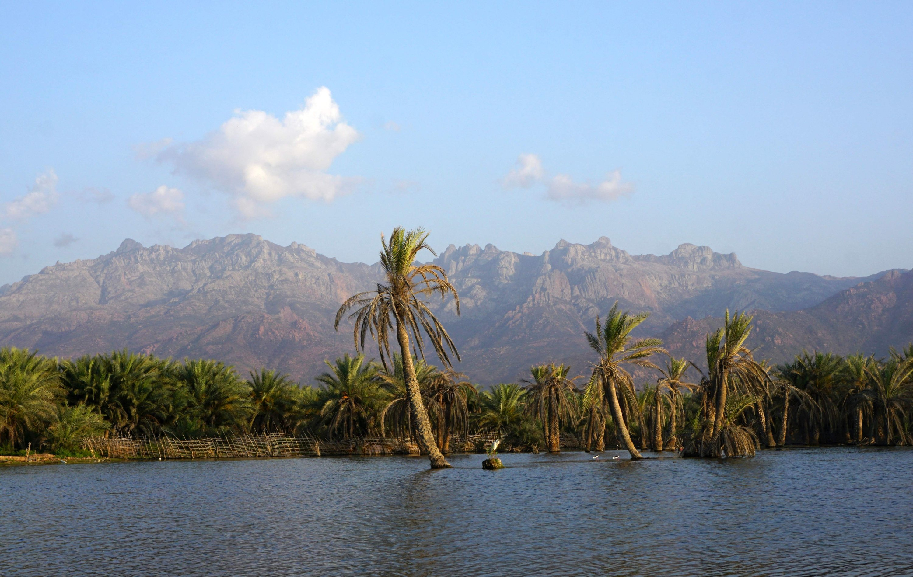 The general view of a lagoon outside Hadibo, the main city on the Yemeni island of Socotra. (AFP Photo)