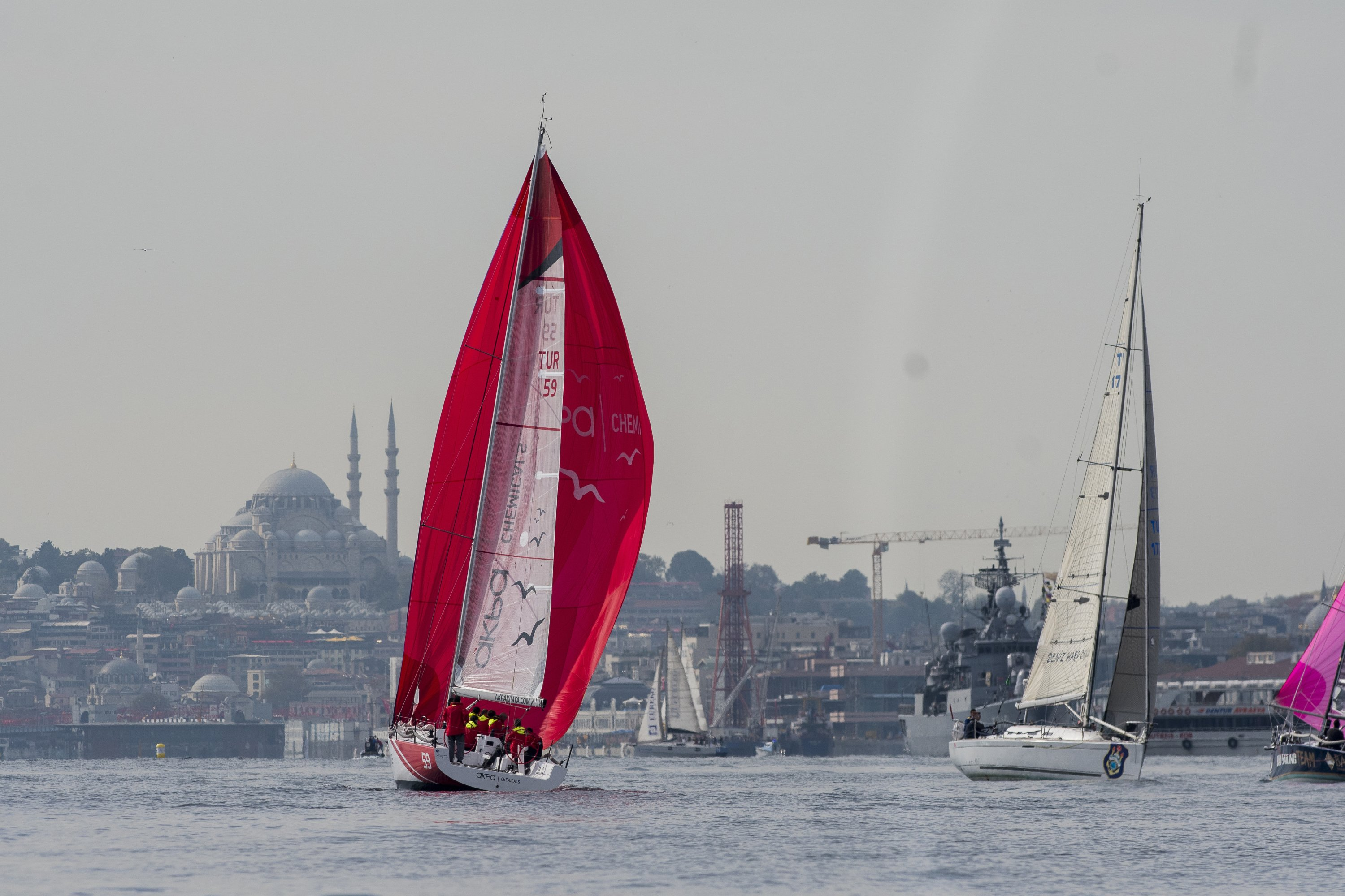 Competitors take part in the 1st Presidential International Yacht Races, Istanbul, Turkey, Oct. 29, 2020. (Courtesy of sailturkey.racing)