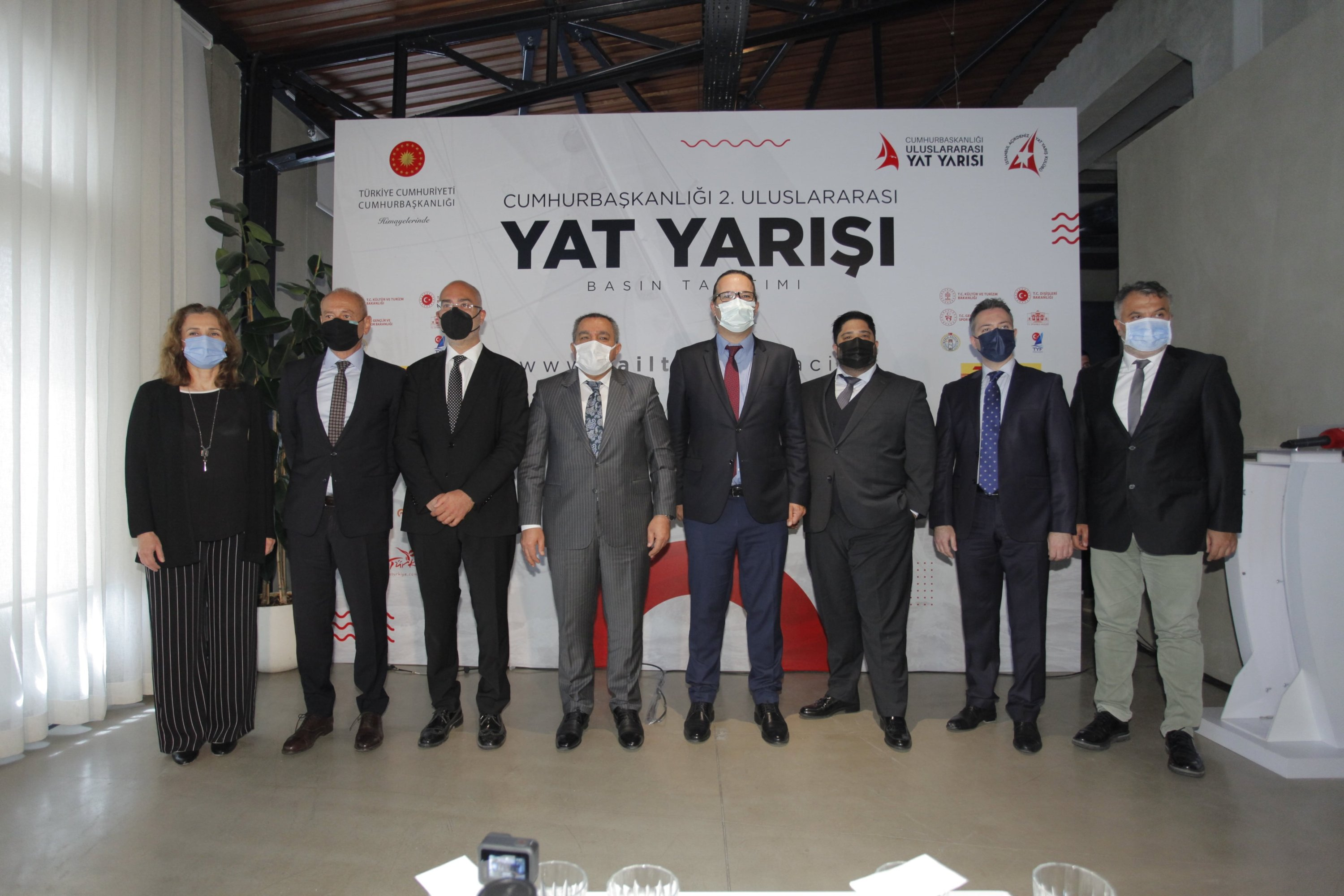 Guests attend a meet-the-press event for the 2nd Presidential International Yacht Races, Istanbul, Turkey, June 8, 2021. (Courtesy of sailturkey.racing)