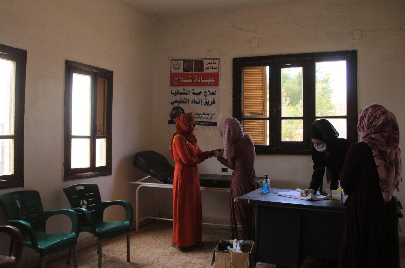 A health clinic in northern Syria's Ras al-Ain, June 9, 2021. (AA Photo)
