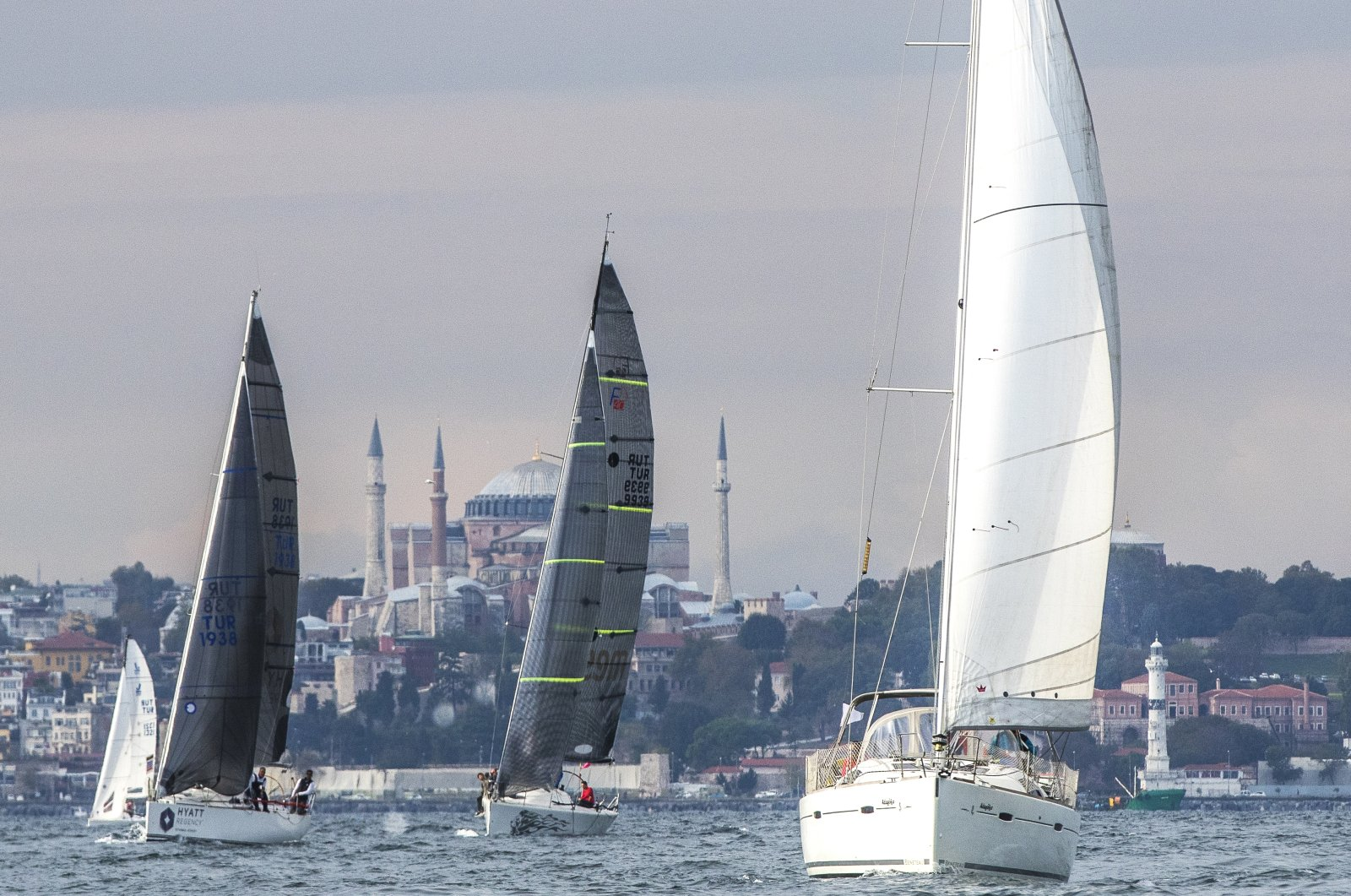 Boats take part in the 1st Presidential International Yacht Races, Istanbul, Turkey, Oct. 29, 2020. (Courtesy of sailturkey.racing)