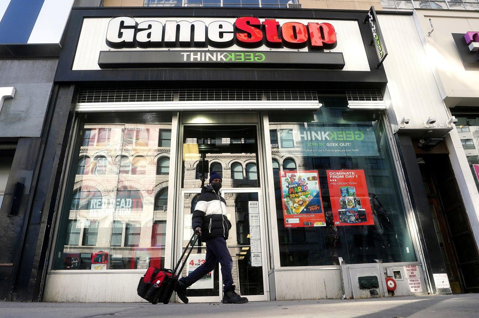 A person walks past a GameStop store in Manhattan, New York City, New York, U.S., Jan. 29, 2021. (Reuters File Photo)