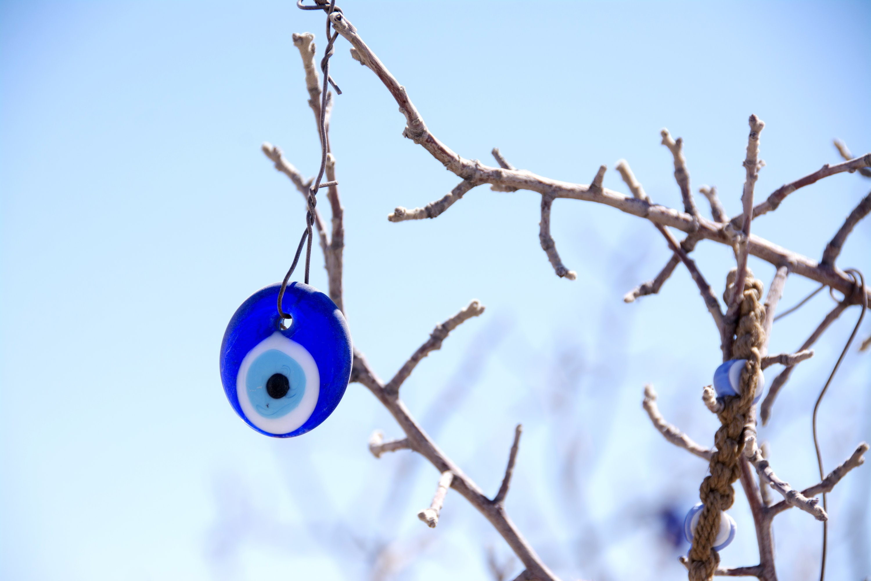 The evil eye can also be seen hanging in trees. (Shutterstock Photo)