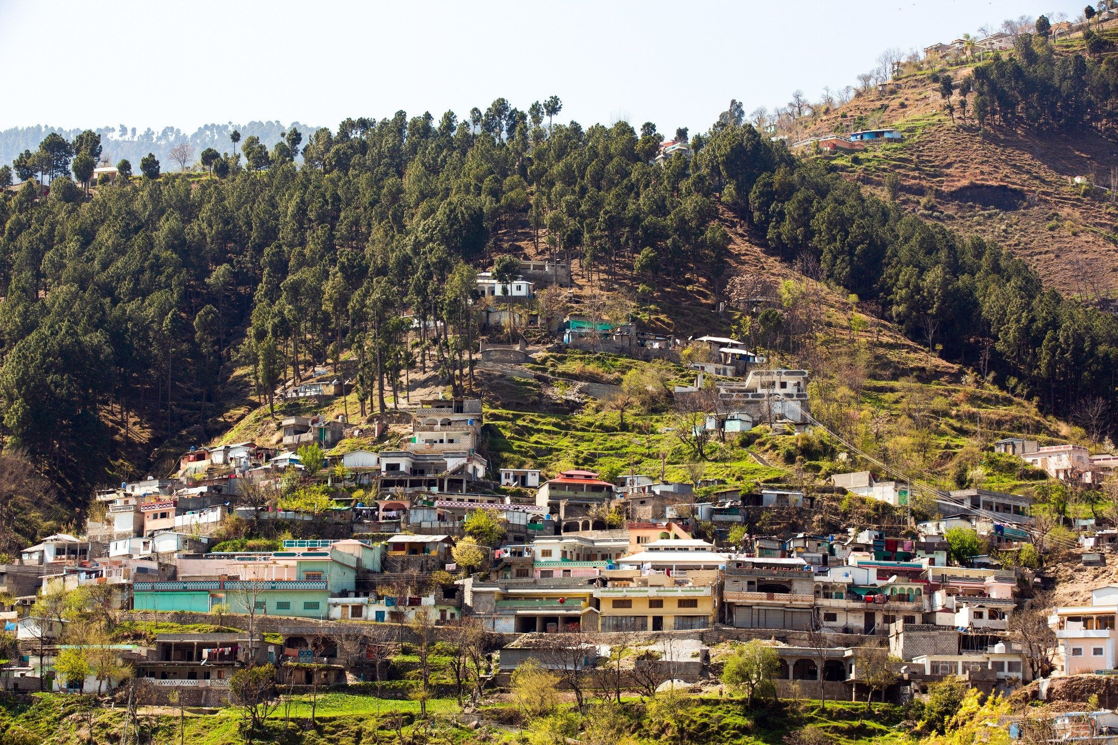 A village is situated on the mountain side in the Balakot district of Manshera, Pakistan. (Shutterstock Photo)