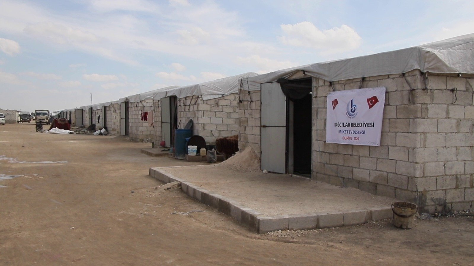 As part of the 'Bağcılar Neighborhood' project,the construction of 450 briquette houses was completed in northwestern Syria's Idlib, June 10, 2021. (AA Photo)