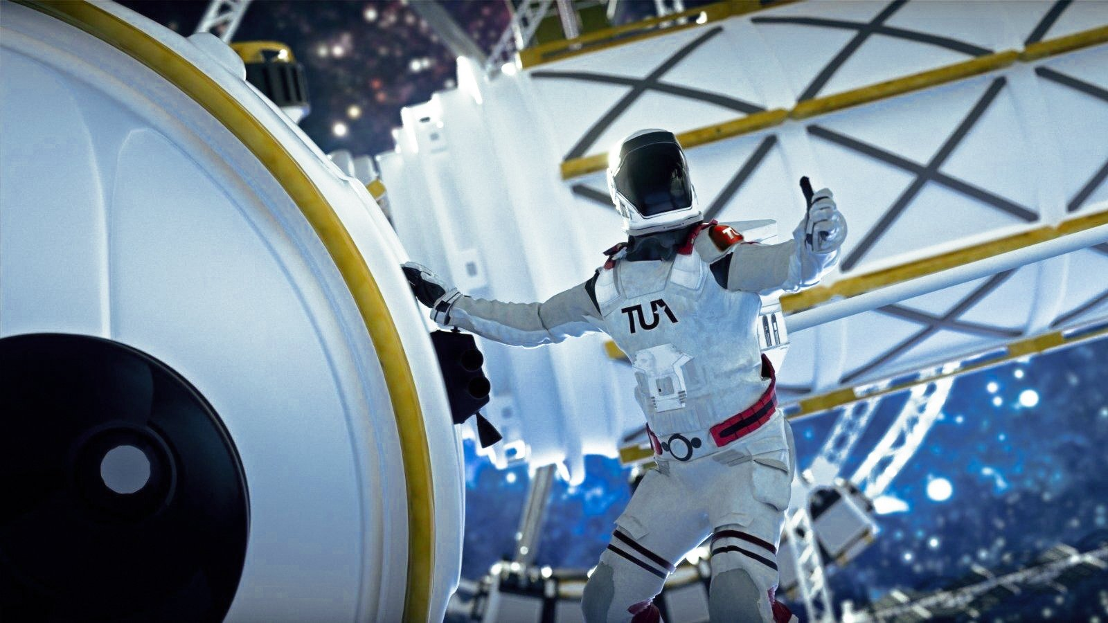 A logo of the Turkish Space Agency is seen on an astronaut in this illustration photo, Feb. 10, 2021. (Courtesy of Turkish Space Agency)