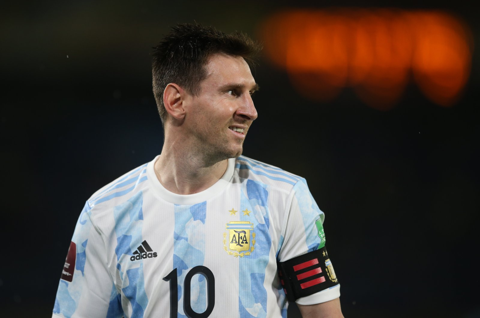 Argentina's Lionel Messi during a World Cup South American Qualifiers match against Colombia, Estadio Metropolitano, Barranquilla, Colombia, June 8, 2021. (Reuters Photo)